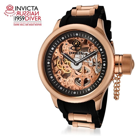 steampunk invicta men s 18k rose gold mechanical watch gets 88 invicta s 1090 russian diver mechanical watch is being offered at just 169 99 shipped originally priced at 1395 its stylish skeleton dial design adds a