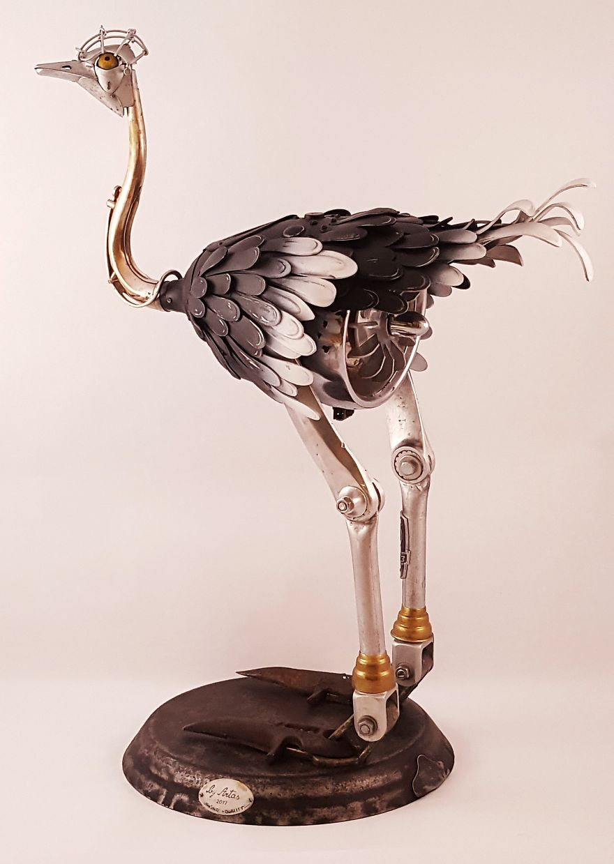 Steampunk Ostrich