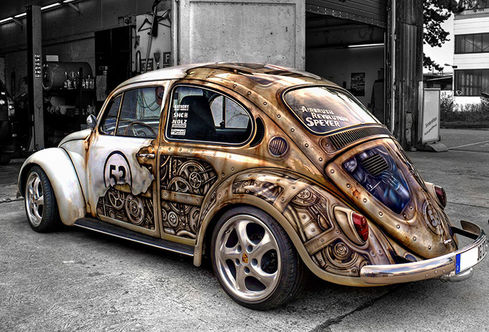Steampunk VW Bug