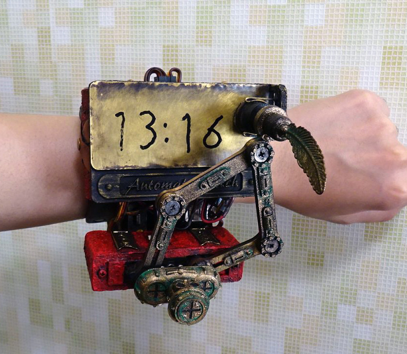 Steampunk Watch Write Erase Time