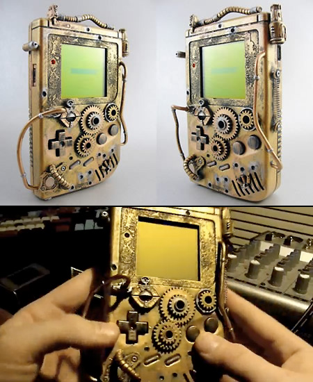 -= CUSTOM GAME BOY (Fat, Pocket et Color) =-  Steampunk_game_boy
