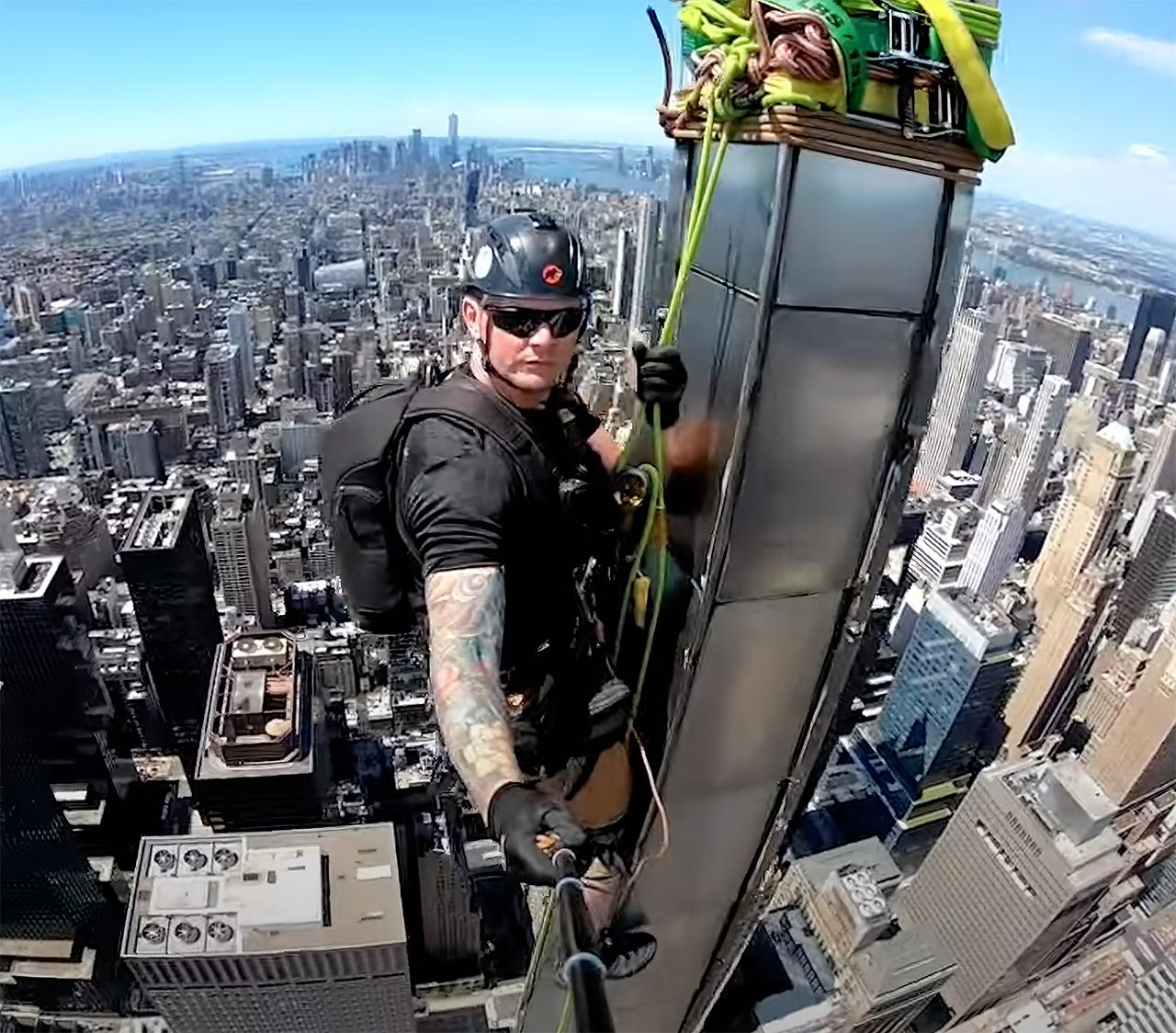 Steeplejack View Top Chrysler Building New York