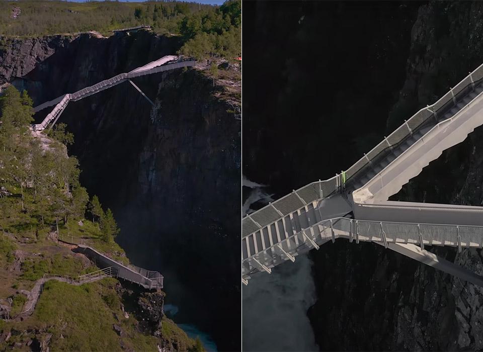 Step Bridge Voringsfossen Norway
