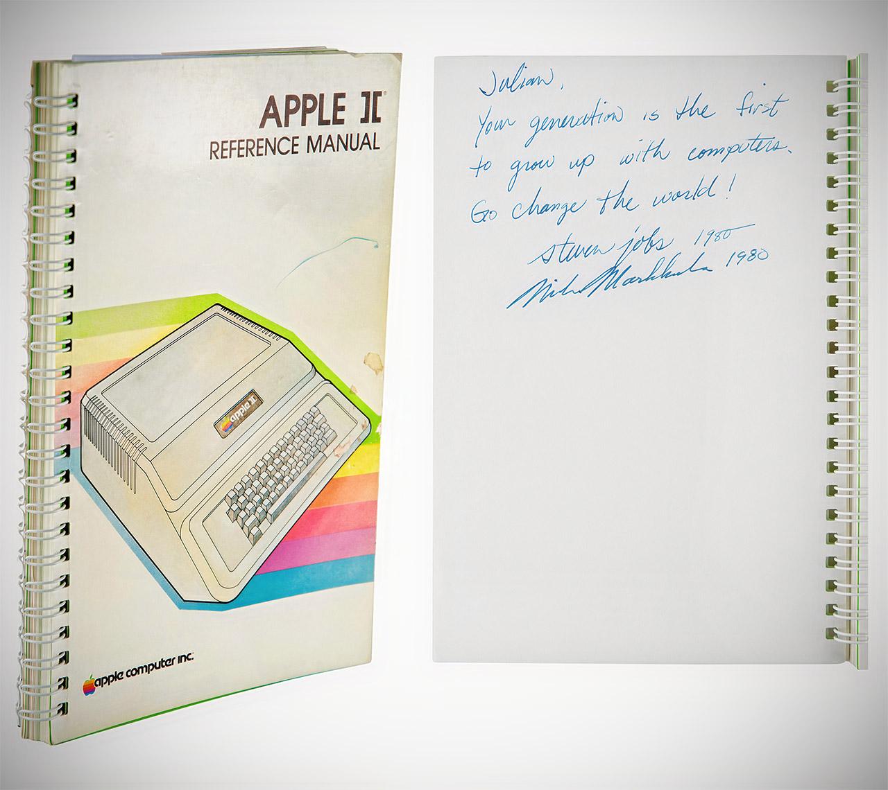 Steve Jobs Mark Markkula Signed Apple II Manual