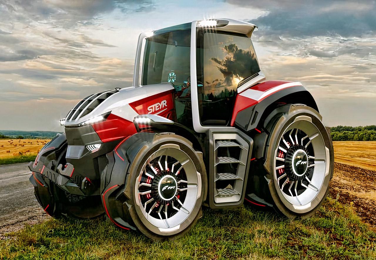 STEYR Konzept Hybrid Tractor Drone