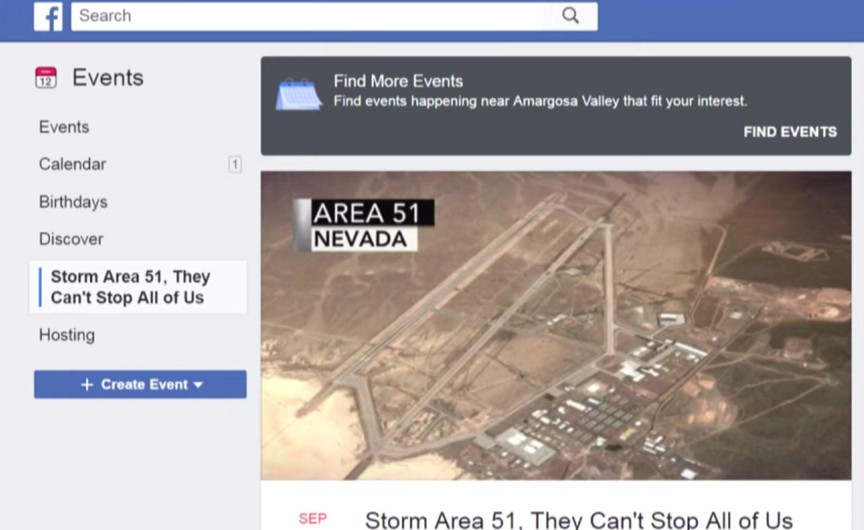Storm Area 51 Facebook