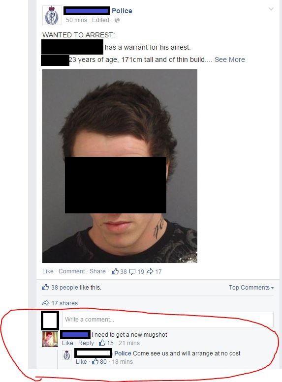 Unusual Facebook Status Update