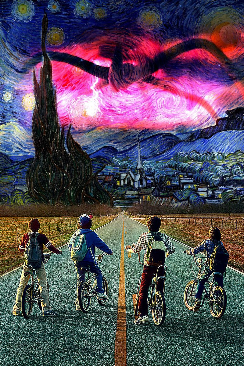 Stranger Things Starry Night