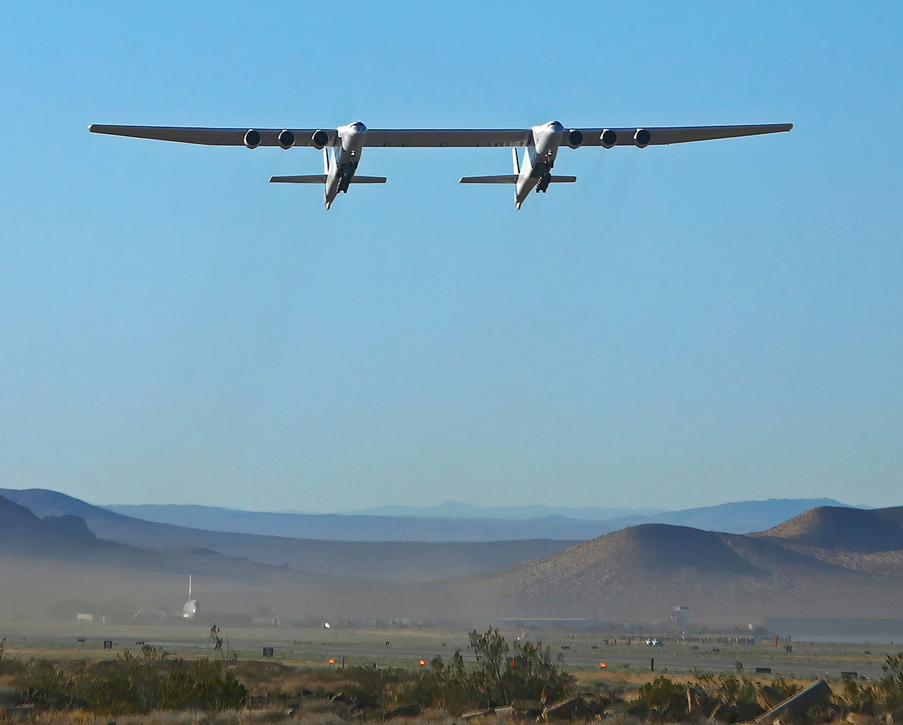 Stratolaunch Largest Widest Aircraft Second Flight