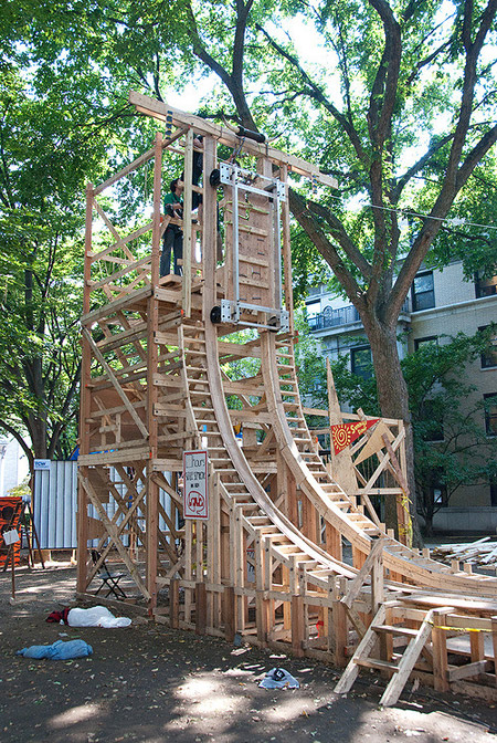 Roller Coaster In Their Backyard : student wooden student built backyard coasters backyard rollercoasters