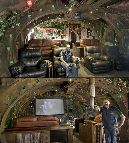 Guy Builds Incredible Submarine-Themed Home Theater