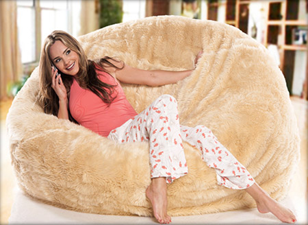 Peachy Sumo Sultan Ultimate Fur Might Be Most Luxurious Bean Bag Bralicious Painted Fabric Chair Ideas Braliciousco
