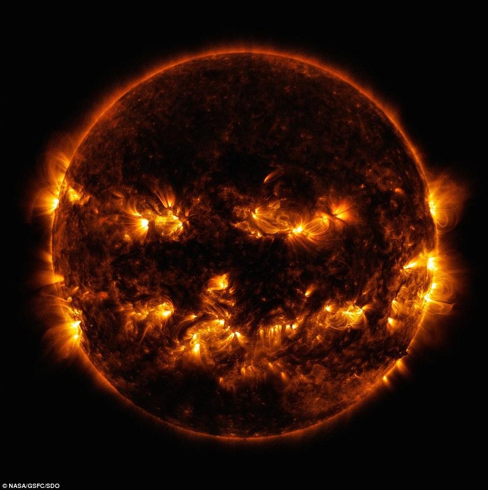 Sun Jack-o-Lantern