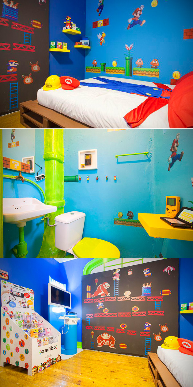 Super Mario Bros AirBnB Room Lets You Live in the Mushroom Kingdom ...