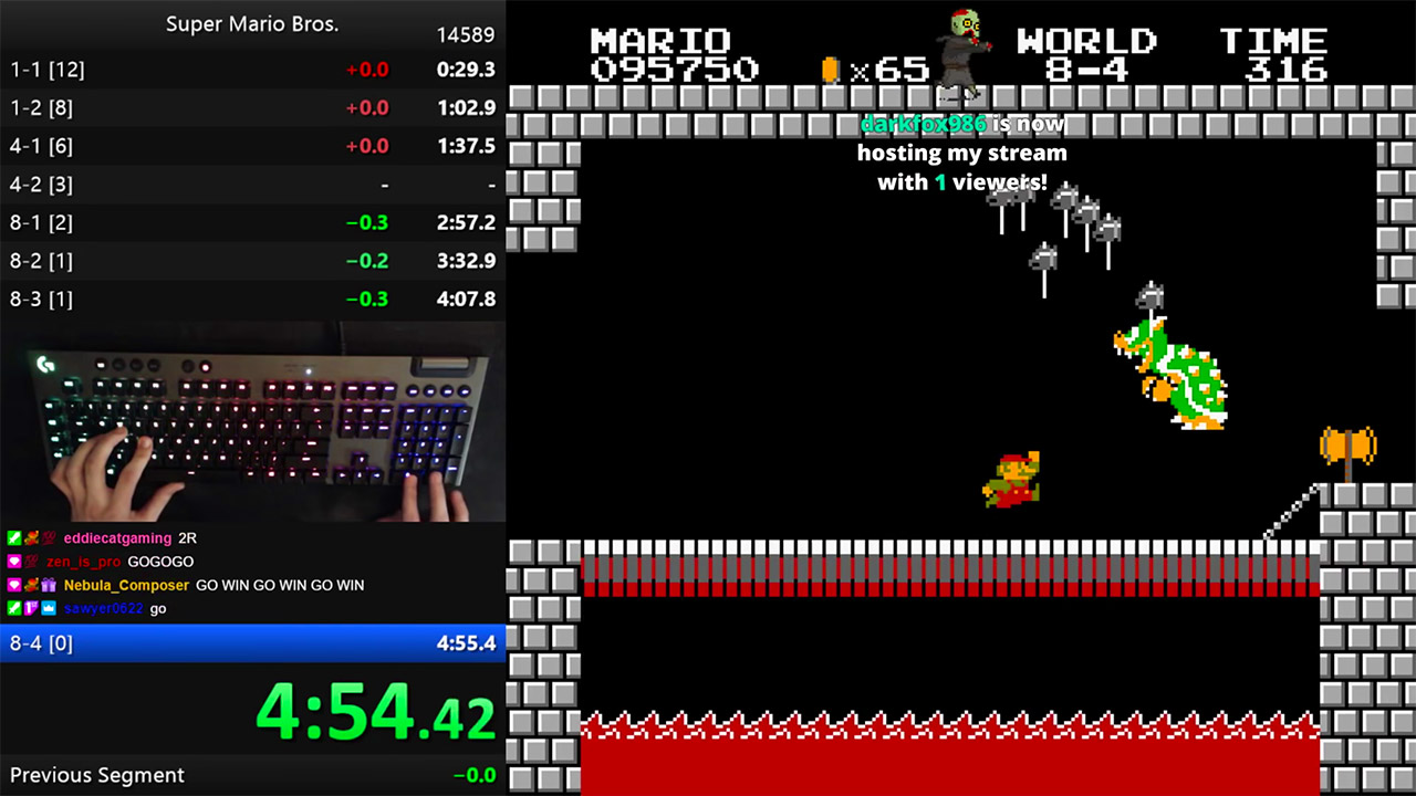 Super Mario Bros. Speedrun World Record NES