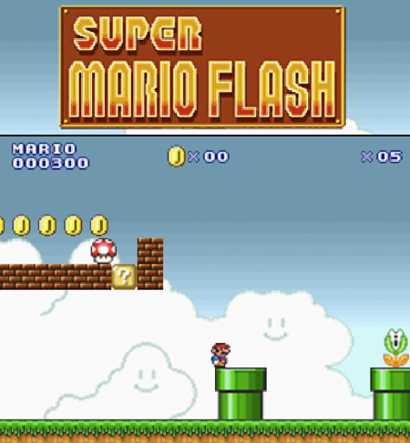 supper mario flash