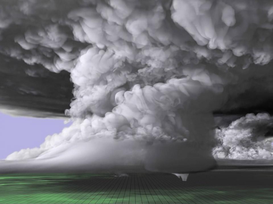 Supercomputer Recreates Tornado