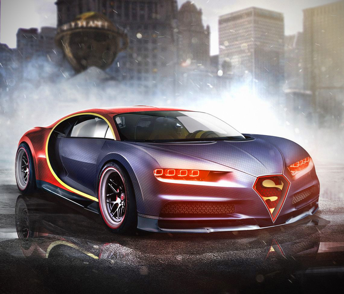 Superman S Bugatti Chiron And 8 More Marvel Dc Superhero