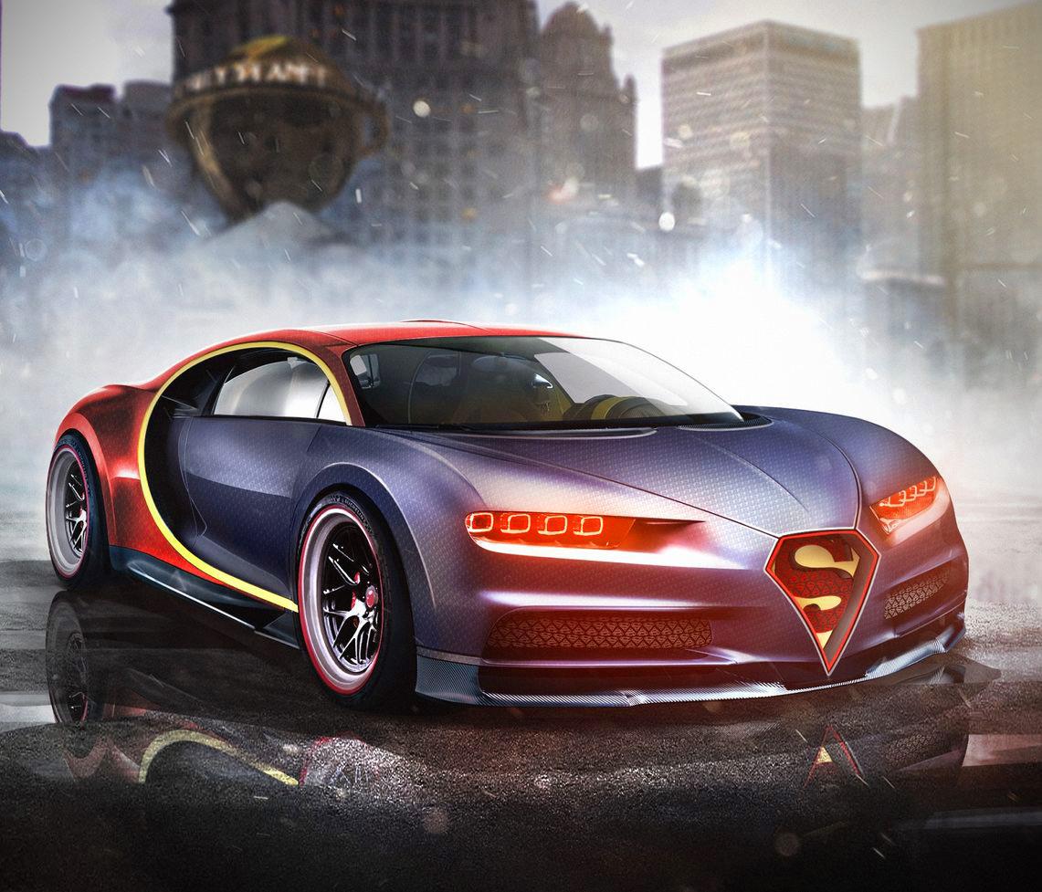 Superman Bugatti Chiron