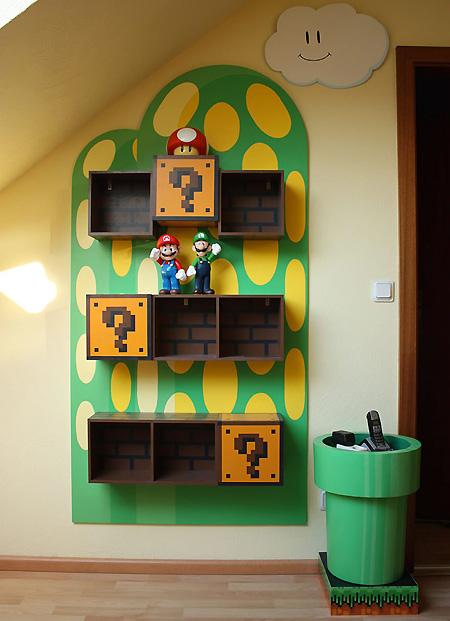 Looking To Add Some 8 Bit Flair To Your Living Room? Then Be Sure To Check  Out This Amazingly Geeky Super Mario Bros. Themed Room For Inspiration.