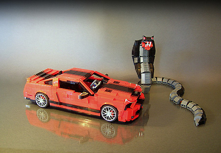 Feature Incredible Lego Shelby Gt500 Super Snake Model