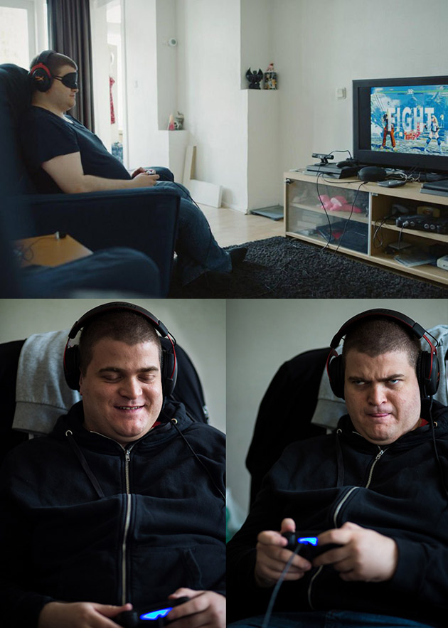 Sven, ein Blind Wettbewerbsfähigen Gamer, Nutzt Klang, Allein zu Spielen Street Fighter