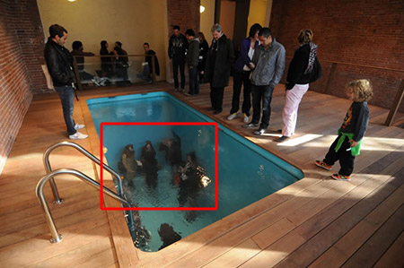 At First Glance, It May Appear As If These People Are Actually Standing Inside  Swimming Pools, But Itu0027s Actually Just A Clever Illusion.