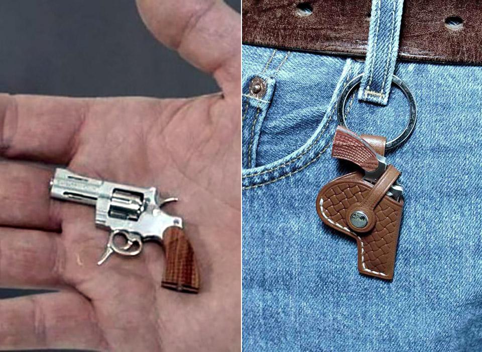 Swiss Mini Gun C1ST Worlds Smallest Revolver Slow Mo
