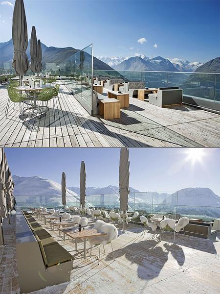 Amazing berghotel muottas muragl hotel in switzerland is for Berghotel design
