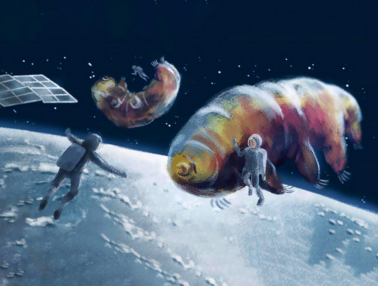 Tardigrade Gun Interplanetary Space Travel