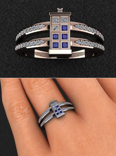 Doctor Who TARDIS Ring Is Blue Sapphire And Diamond Encrusted, Might Be  Geekiest Ever