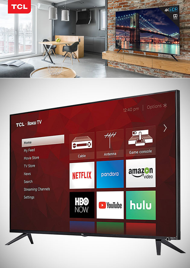 TCL 55-inch 4K Roku Smart LED TV