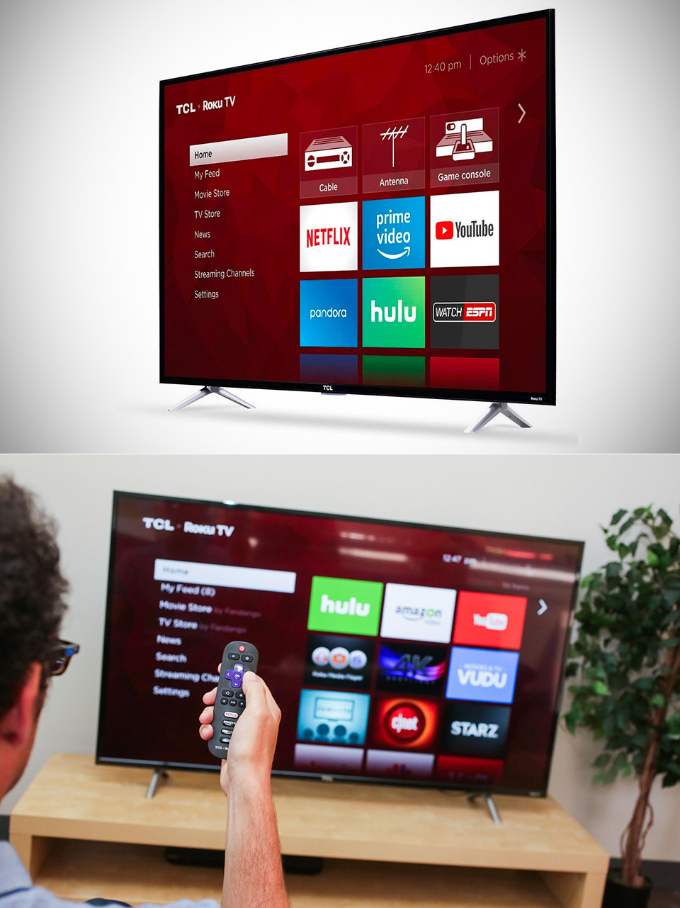 TCL 55S405 4K Roku Smart LED TV