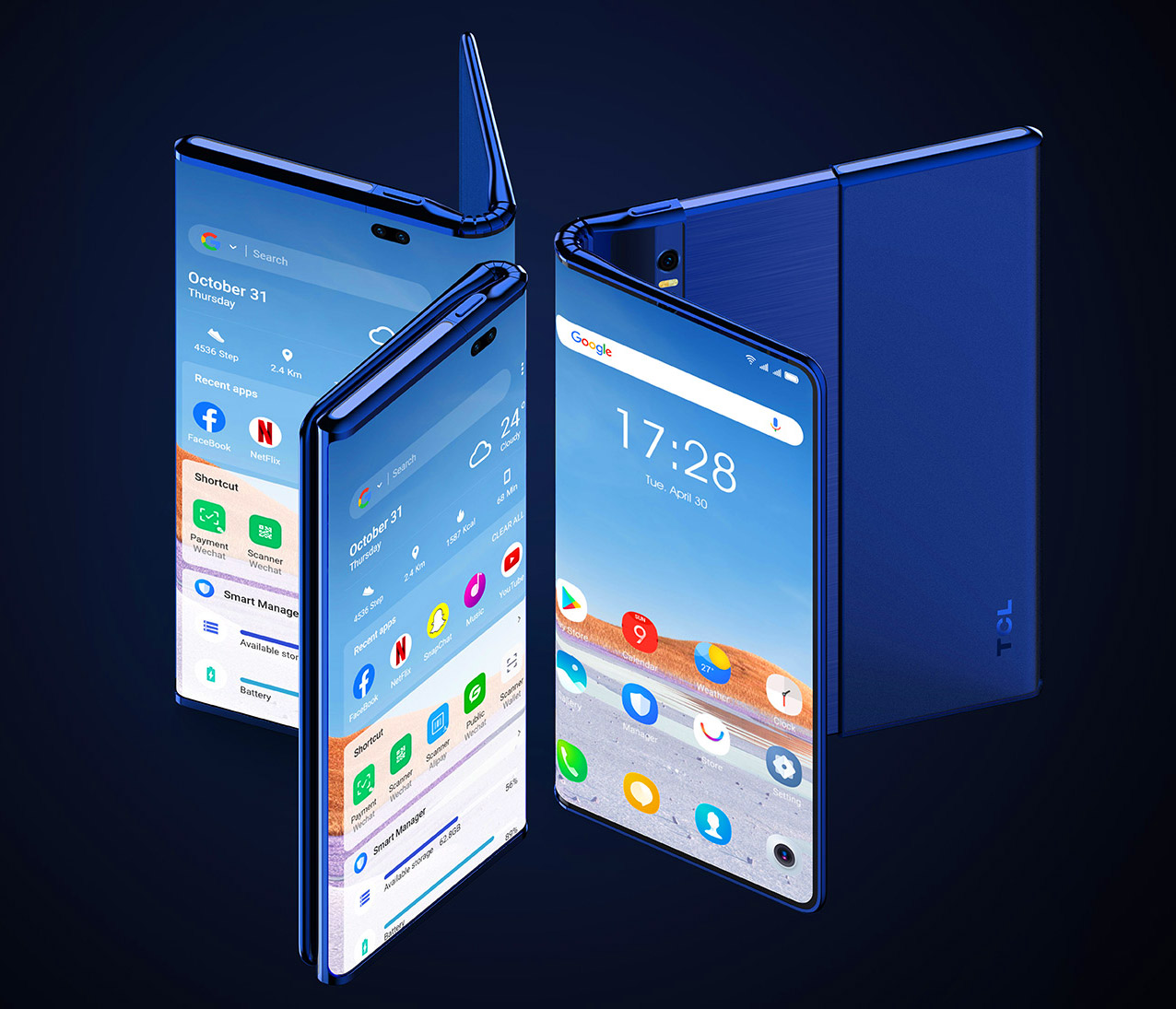 TCL Fold n Roll Smartphone Concept Tablet