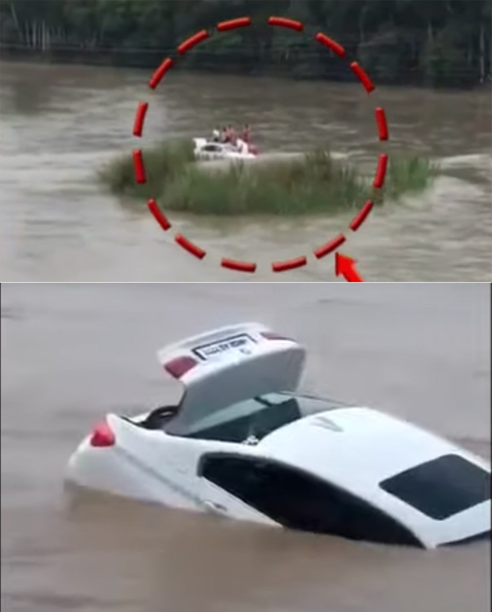 Teen Pushes BMW Into River