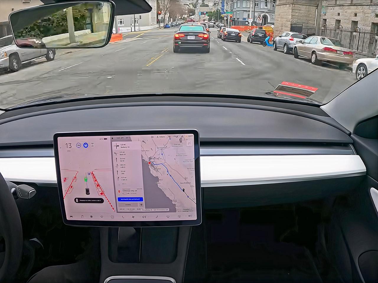 Tesla Autopilot Full Self Driving Demo