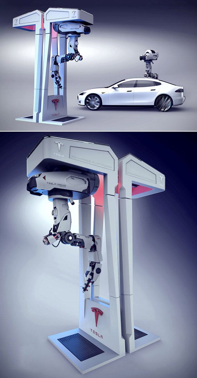 Tesla Drone Charging