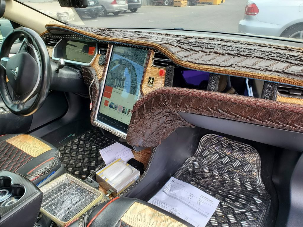 Tesla Crocodile Leather