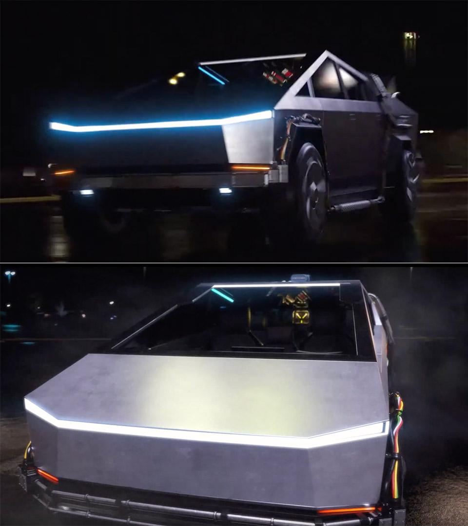 Tesla Cybertruck Back to the Future DeLorean