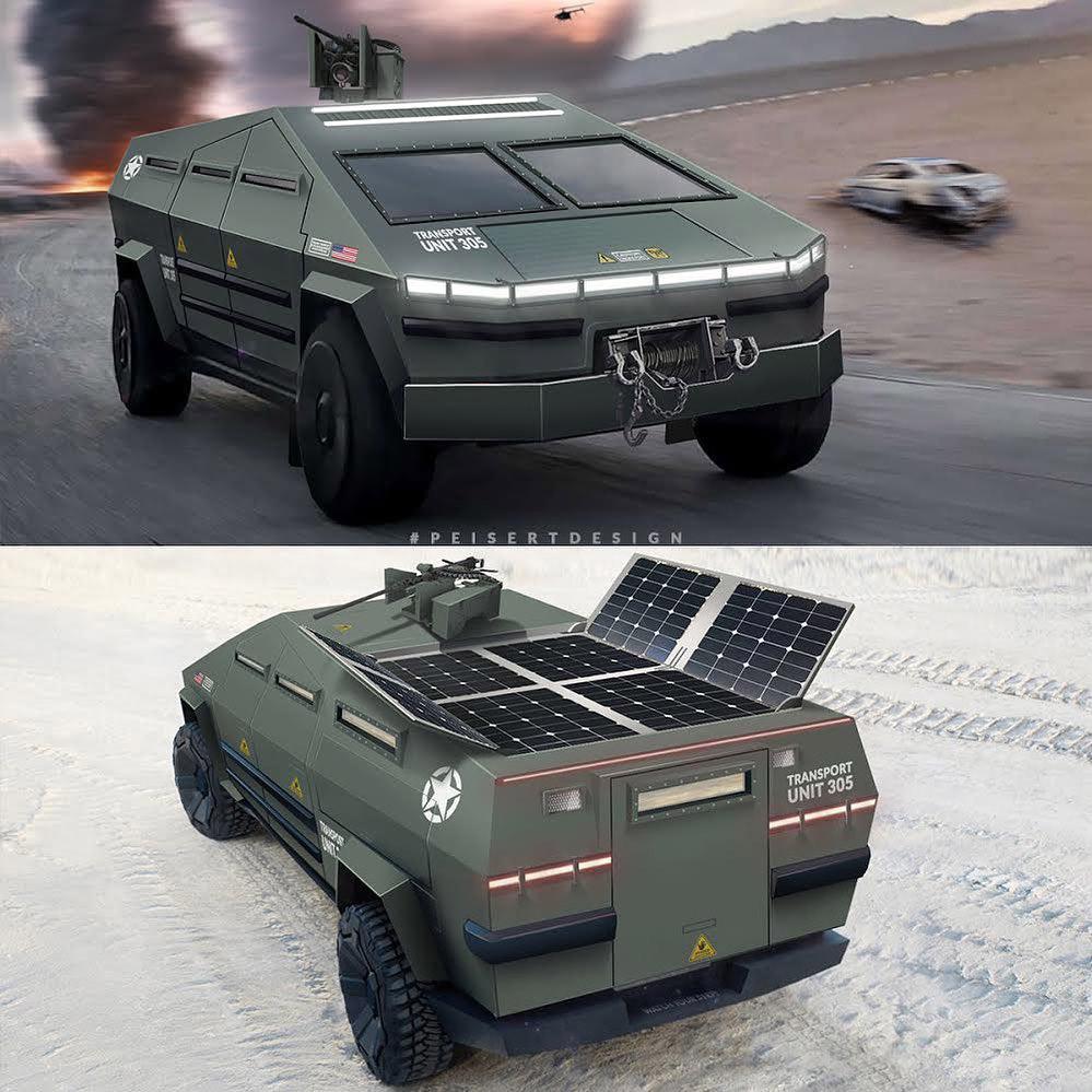 Tesla Cybertruck Elon Musk Military