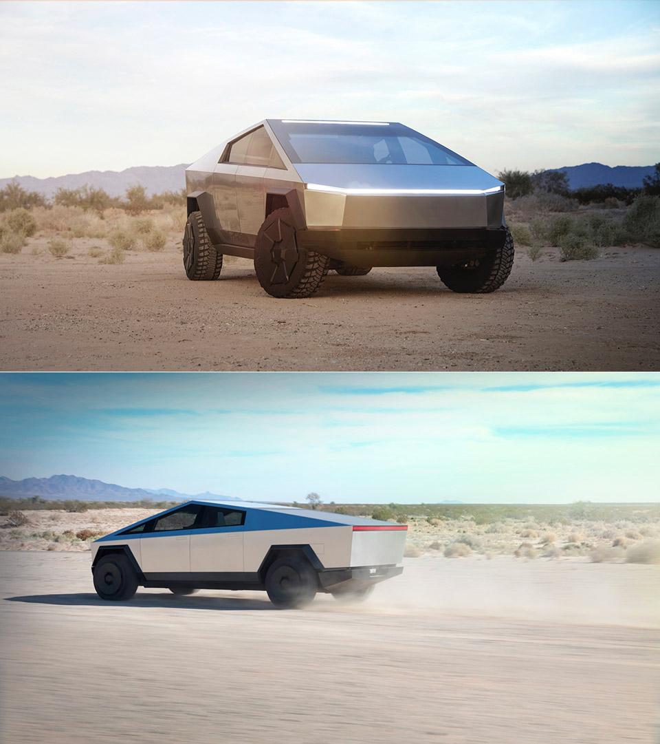 Tesla Cybertruck Porsche 911