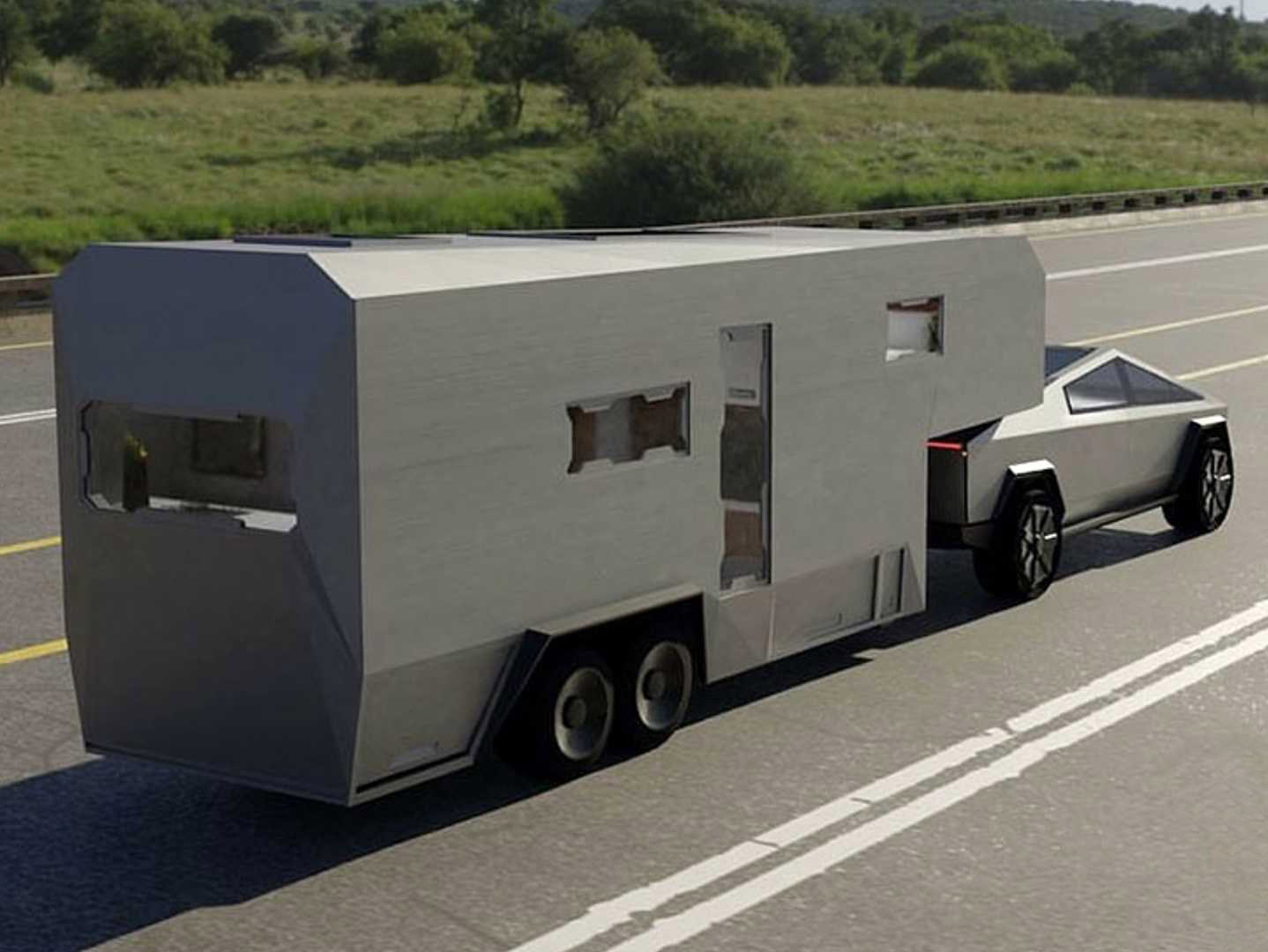Tesla Cybertruck RV Travel Trailer