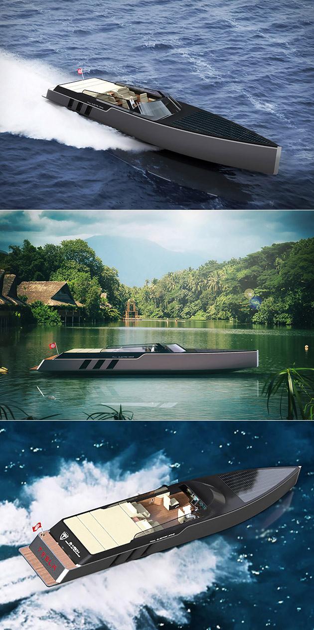 Tesla E-Vision GT Boat