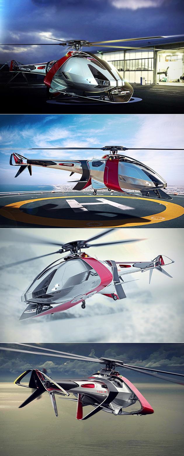 Tesla Helicopter