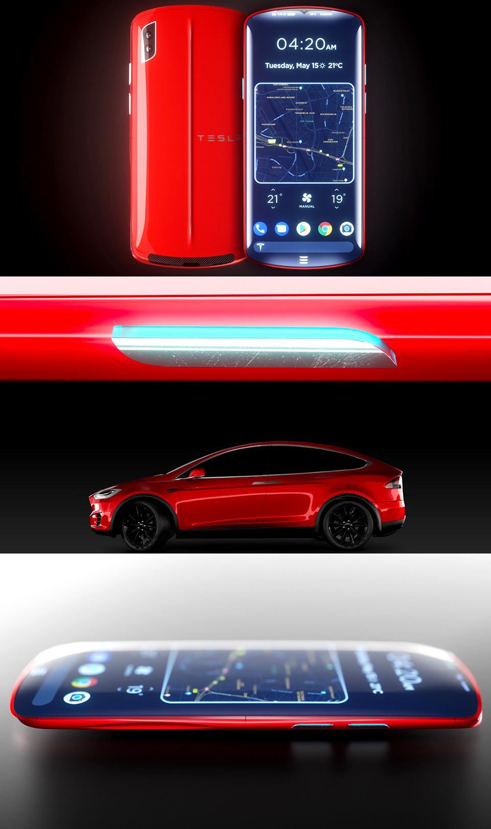 Tesla Model P Smartphone