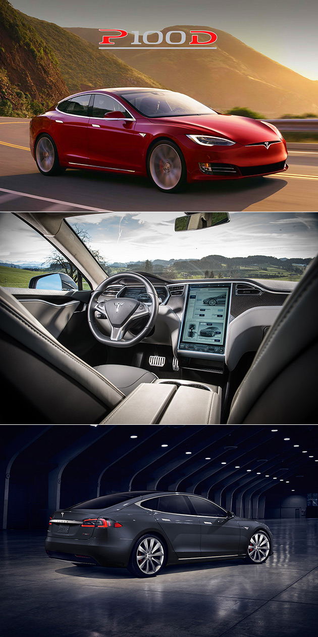 tesla model s p100d is fastest production car in the world does 0 60 in 2 5 seconds techeblog. Black Bedroom Furniture Sets. Home Design Ideas