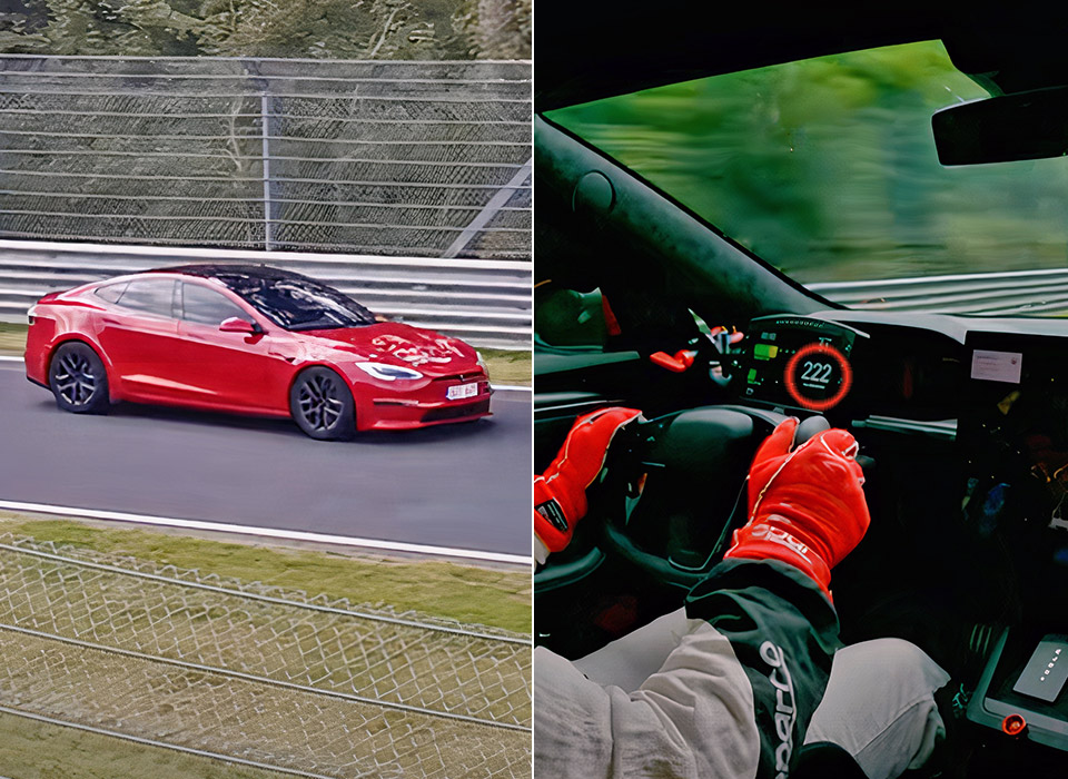 Tesla Model S Plaid Nurburgring Lap Record 2021