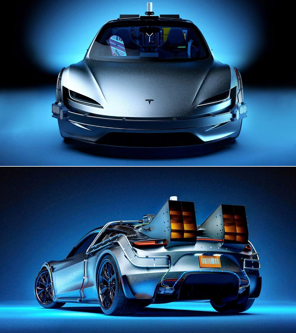 Back to the Future Tesla Roadster