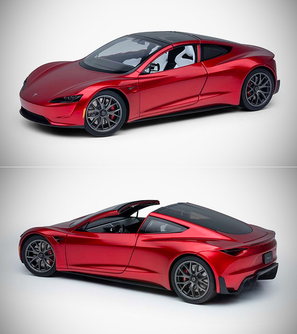 Tesla Roadster Diecast Model