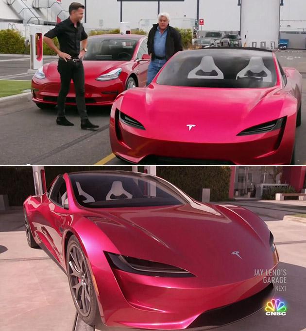 Jay Leno Tesla Roadster